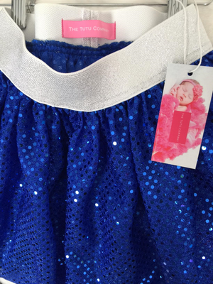 Dance Collection - Blue Sparkle Dance Skirt