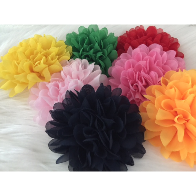 Flower Clips for Tutus or Hair - Yellow