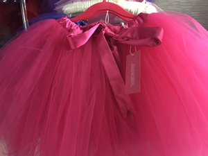 Signature Collection - Hot Pink Tutu with Bow + Lining - FULLER SKIRT