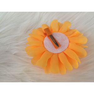 Flower Clips for Tutus or Hair - Orange