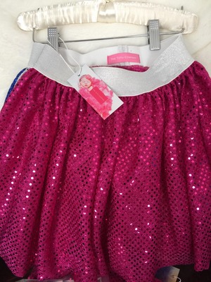 Dance Collection - Hot Pink Sparkle Dance Skirt