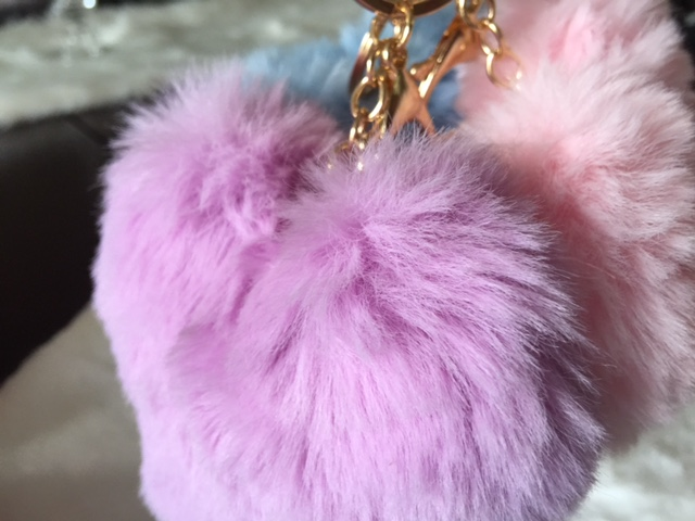 Cozy, Soft Faux Fur Heart Backpack/Keychains - SELECT YOUR FAVORITE COLOR