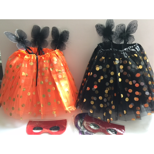 Orange Tutu with Gold Polka Dots - Costume & Party Favor Tutus