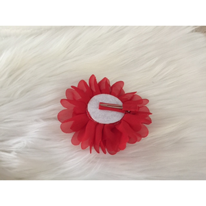 Flower Clips for Tutus or Hair - Red