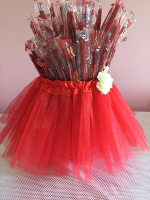 Rosie Red Tutu Centerpiece