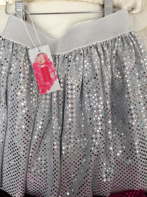 Dance Collection - Silver Sparkle Dance Skirt