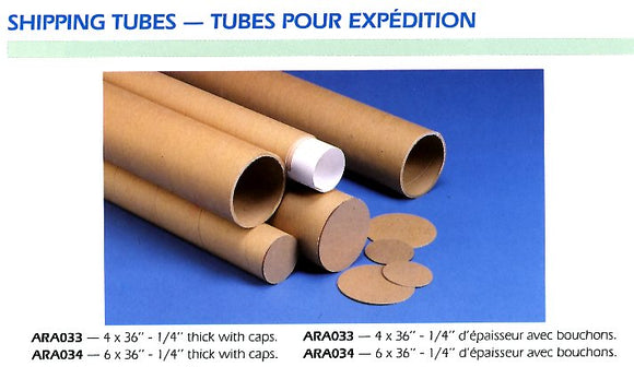 Shipping Tubes - 6 X 36
