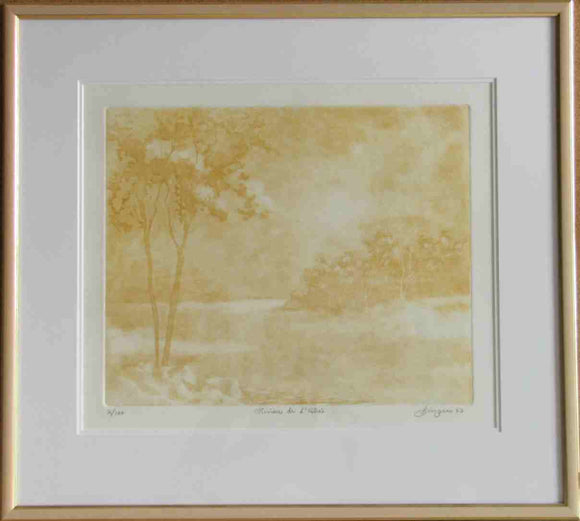 Rivière de l'Estrée (Framed Lithograph Numbered & Signed) 02/100