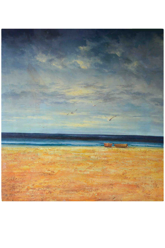 Beach - (Oil Painting on Canvas Gallery Wrap Ready to Hang)