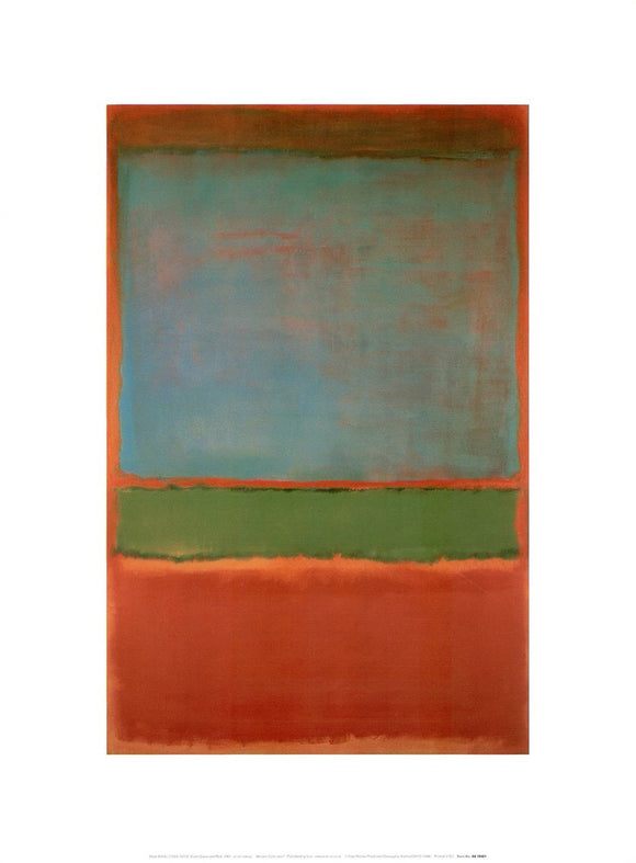 Violet Green and Red, 1951 by Mark Rothko - 12 X 16 Inches (Art Print)