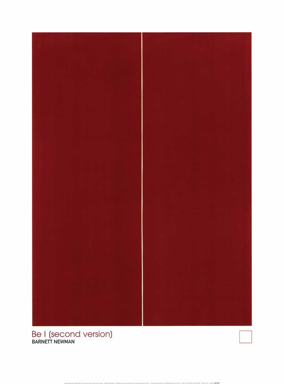 Be I (Second Version) by Barnett Newman - 24 X 32 Inches (Art Print)