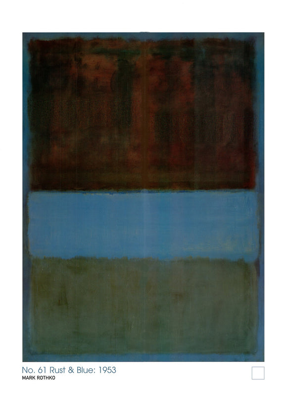 No. 61 Rust and Blue, 1953 by Mark Rothko - 24 X 32 Inches (Art Print)