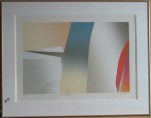 Les jeux centrifuges, 1982 (Gold Metal Frame - Etching Numbered & Signed) 29/75