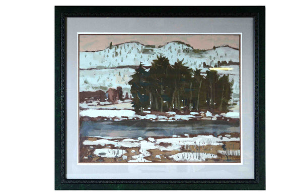 St. Maurice River - (Wood Frame Ready to Hang)