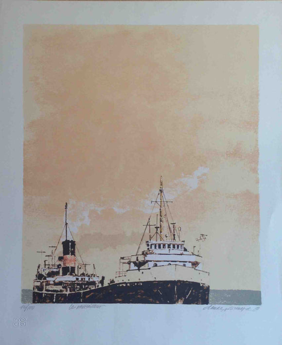 Le Pavitailleur - (Lithography Numbered & Signed) 45/100