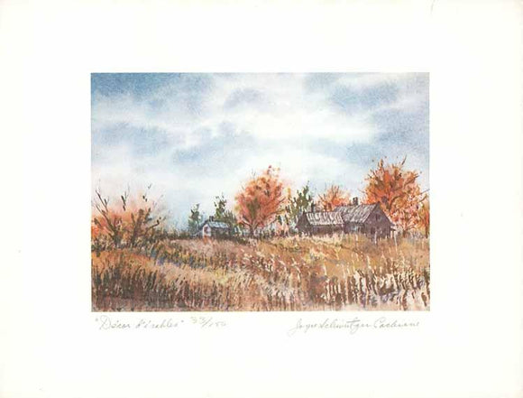 Décor d'érables by Joyce Schweitzer Cochrane (Watercolour Numbered & Signed) 35/150