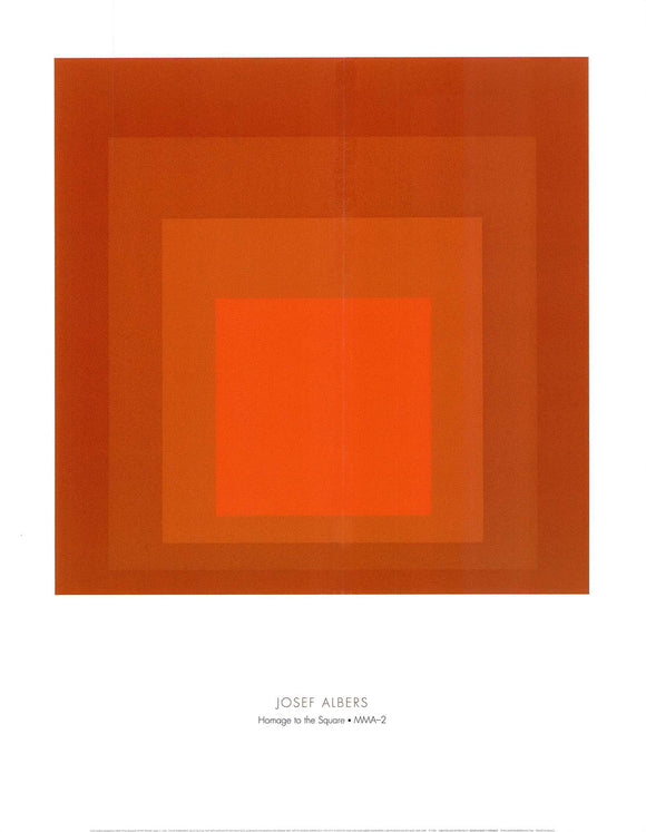 Homage to the Square: MMA-2, 1970 by Josef Albers - 22 X 28 Inches (Art Print)
