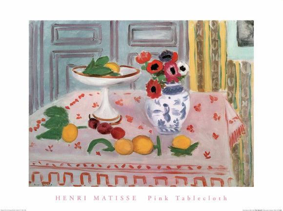 Pink Tablecloth by Henri Matisse - 24 X 32 Inches (Art Print)