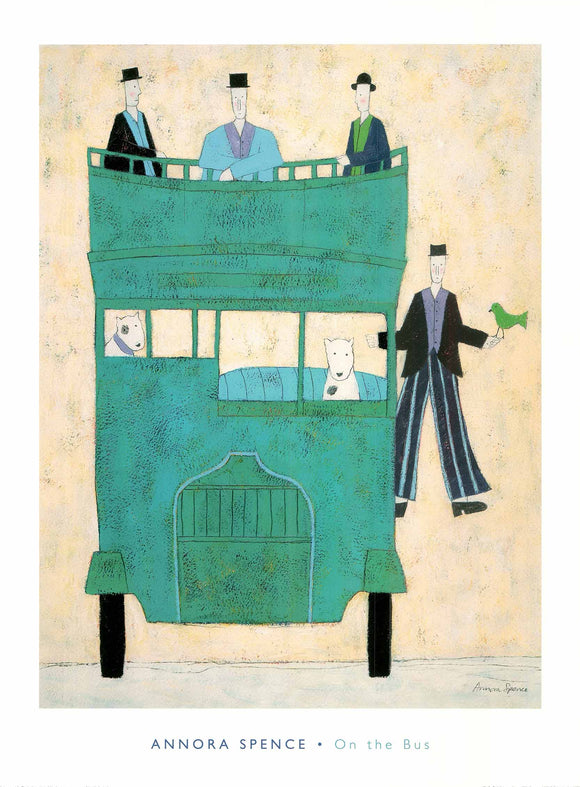 On the Bus by Annora Spence - 24 X 32 Inches (Art Print)