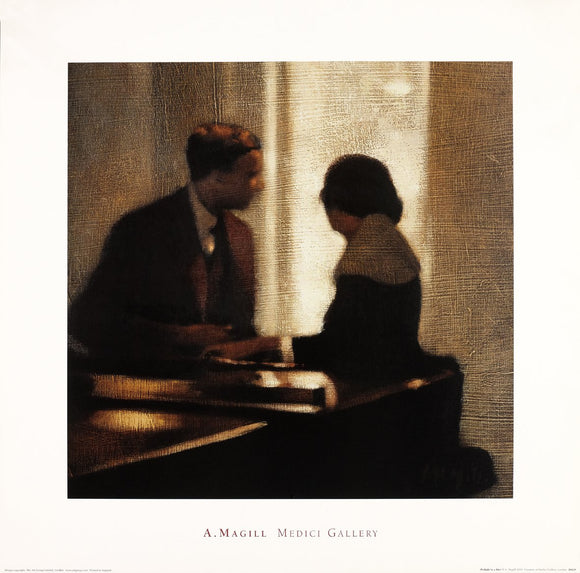 Prelude to a Kiss by Anne Magill - 24 X 24 Inches (Art Print)