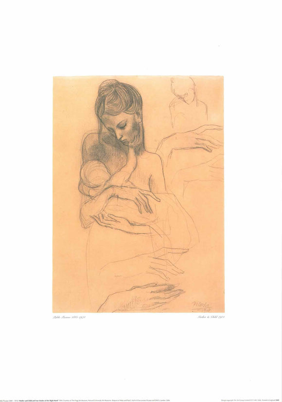 Mother and Child, 1904 by Pablo Picasso - 20 X 28 Inches (Art Print)