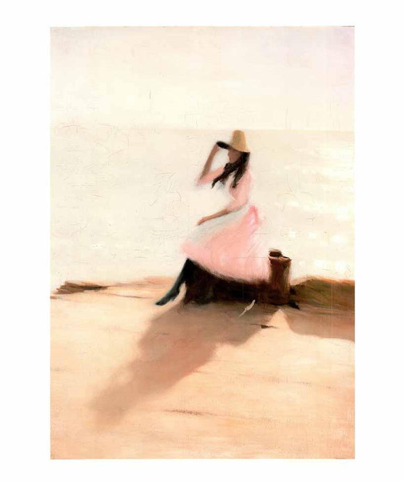 Young Woman on the Beach by Steer Philip Wilson - 20 X 23