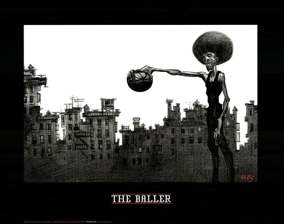 The Baller by Justin Bua - 16 X 20 inches (Art Print)