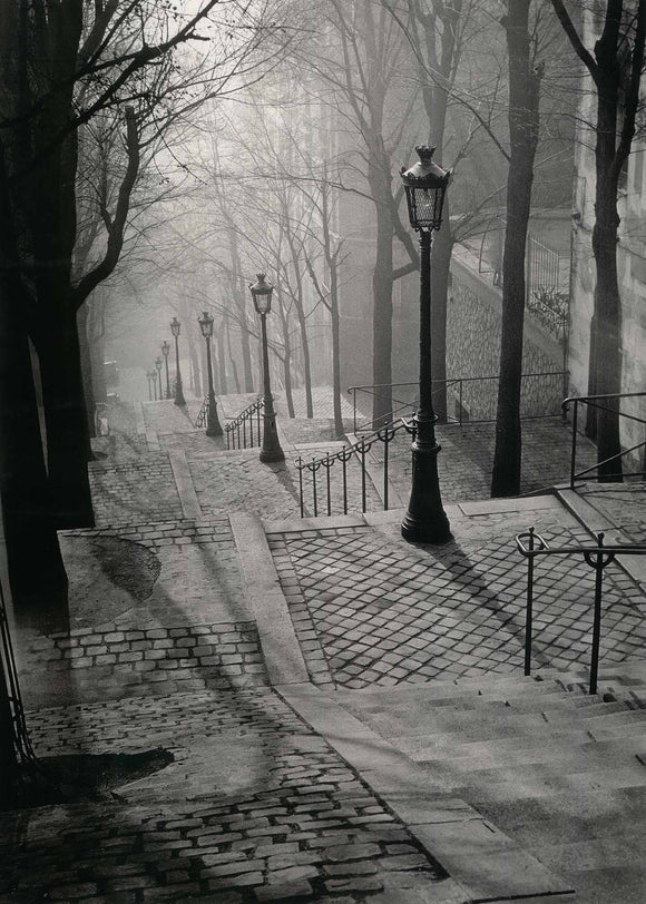 Escalier de la Butte Montmartre by Brassaï - 20 X 28 Inches (Art Print)