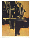 Painting July 16, 1961 by Pierre Soulages - 10 X 12 Inches (Art Print)