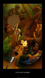 Jazz Quintet by Justin Bua - 21 X 36 Inches (Art Print)