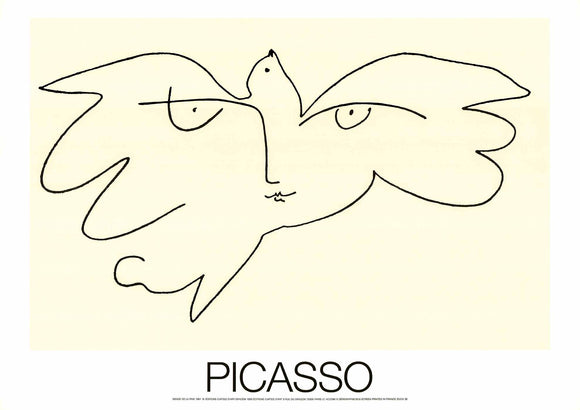 Face of Peace, 1961 by Pablo Picasso - 20 X 28 inches (Silkscreen / Sérigraphie)