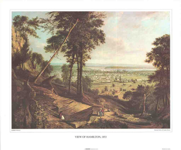 View of Hamilton, 1853 by Robert Whale - 19 X 23 Inches (Art Print)
