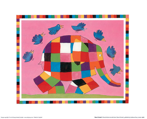 Elmer's Friends by David McKee - 10 X 12 Inches (Poster)