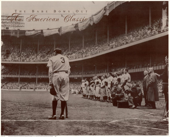 The Babe Bows Out, 1948 by Nat Fein - 20 X 24 Inches (Art Print)