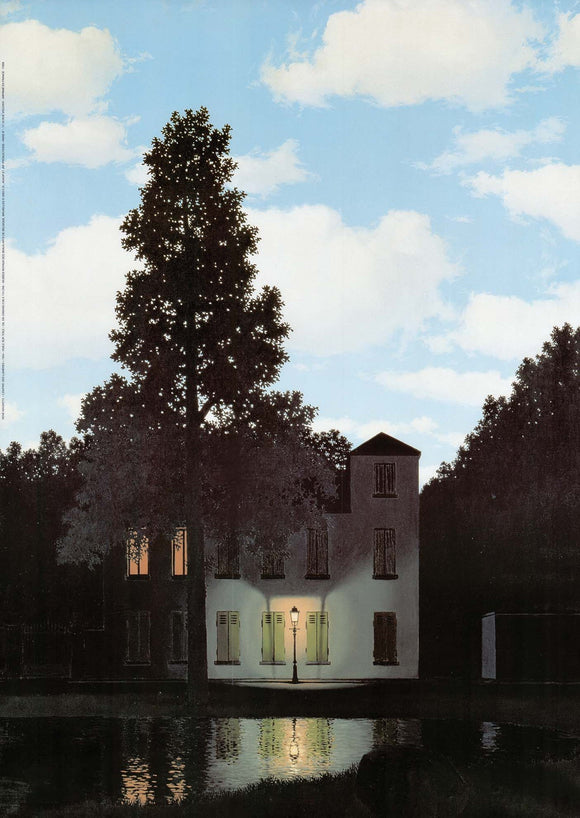 Empire of Light, 1954 by René Magritte - 20 X 28 Inches (Art Print)
