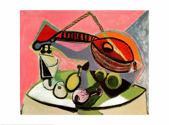 Still Life With a Mandolin, 1938 by Pablo Picasso - 24 X 32 Inches (Art Print)