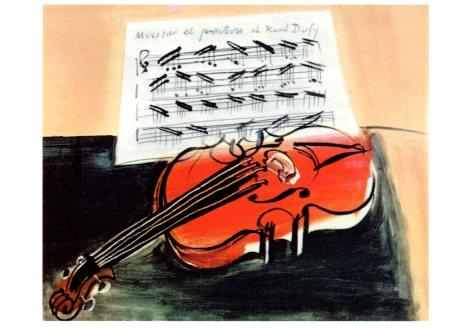 The Red Violin, 1948 by Raoul Dufy - 5 X 7 Inches (Greeting Card)