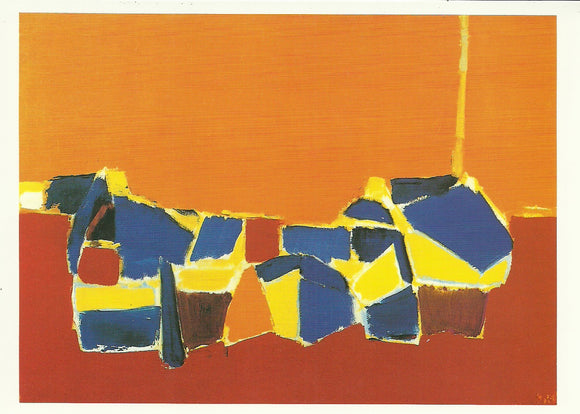 Les Martigues, 1953-54 by Nicolas De Staël - 5 X 7 Inches (Greeting Card)