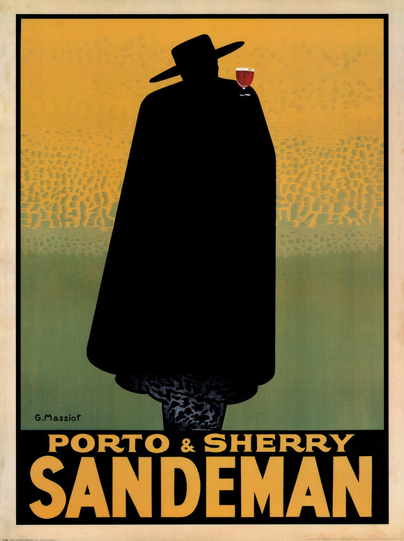 Porto and Sherry Sandeman, 1931 by Georges Massiot - 24 X 32 Inches (Vintage Art Print)