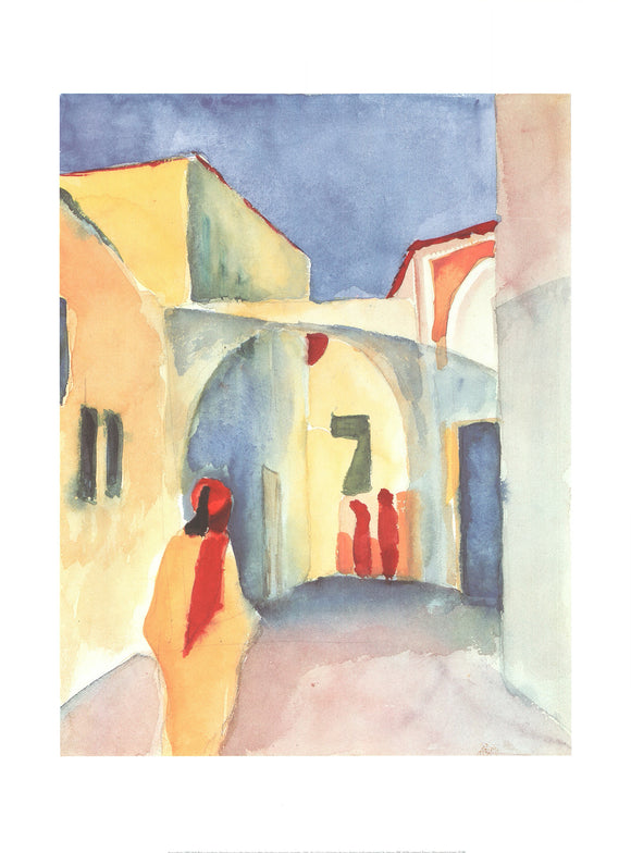 View on an Alley, 1914 by August Macke - 24 X 32 Inches (Art Print)