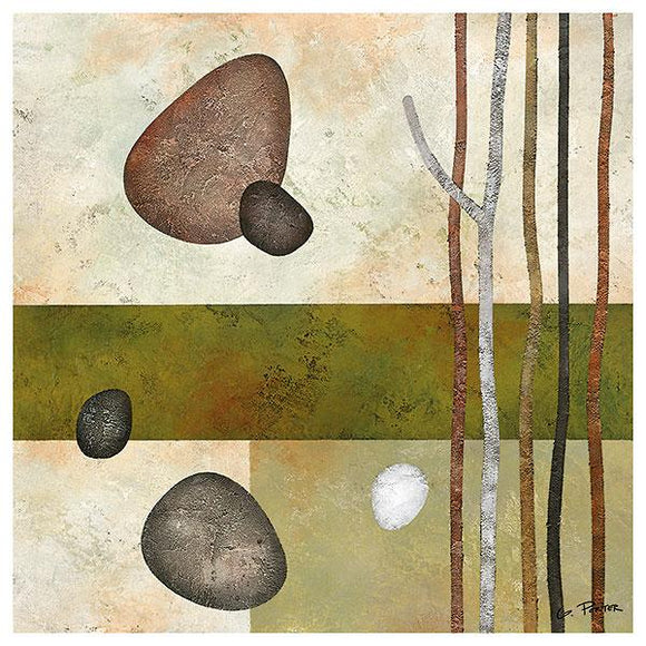 Sticks and Stones VI by Glenys Porter - 12 X 12 Inches (Art Print)