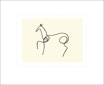 The Horse by Pablo Picasso - 20 X 24 Inches (Silkscreen)