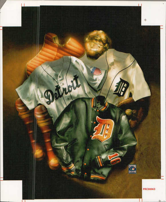 Detroit - Tigers - 11 X 14 Inches (Canvas Roll or Stretched ready to hang)