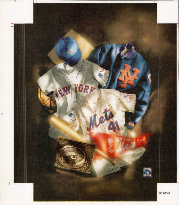 New York - Mets - 11 X 14 Inches (Canvas Roll or Stretched ready to hang)