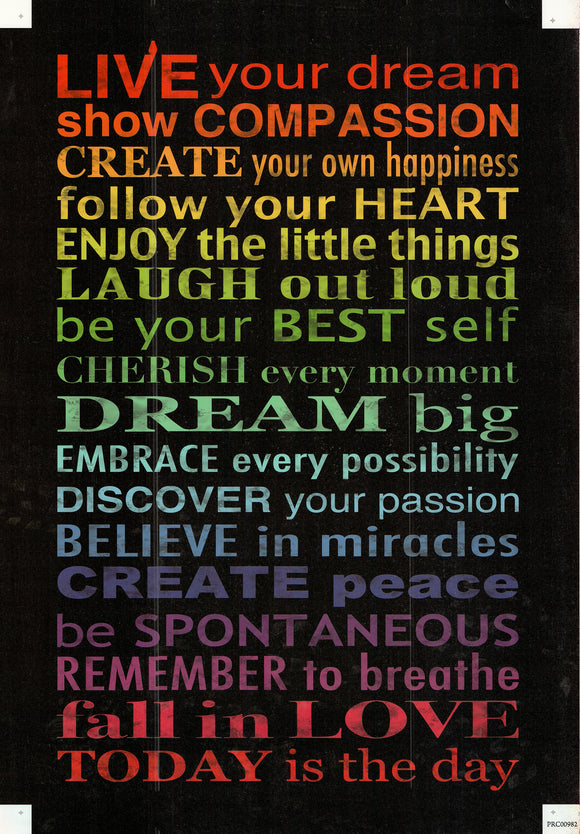 Live your Dream - 24 X 36 Inches (Canvas Roll or Stretched ready to hang)