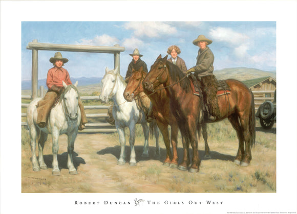 The Girls Out West, 2003 by Robert Duncan - 20 X 28 Inches (Art Print)