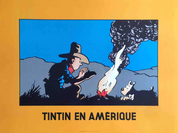 Tintin en Amerique by Hergé Moulinsart - 24 X 32 Inches (Art Print)