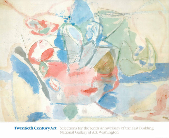 Mountains and Sea, 1952 by Helen Frankenthaler - 32 X 39 Inches (Art Print)