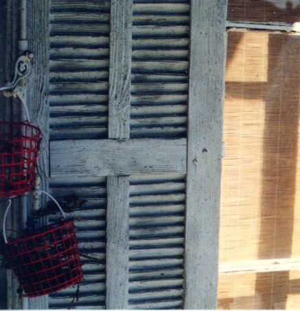 Shutters & Red Basket