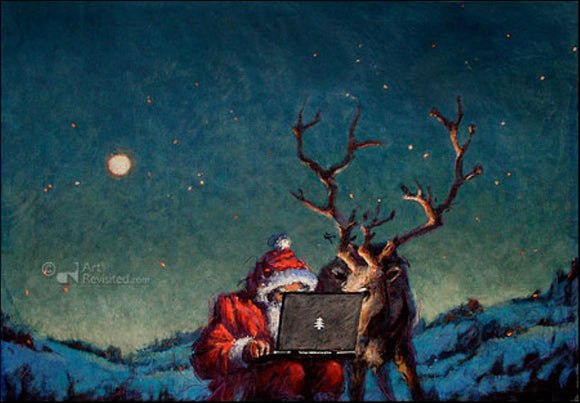 Online Xmas by Peter Wever - 5 X 7